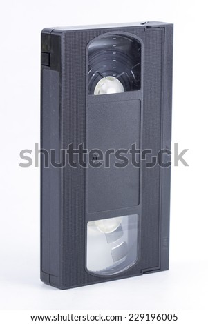 Video Tape Isolated on the white background  - stock photo