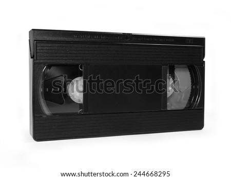 Video Tape isolated on white background - stock photo