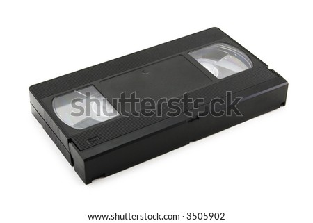 video tape on a white background with soft shadow - stock photo