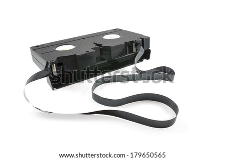Video tape on white background - stock photo
