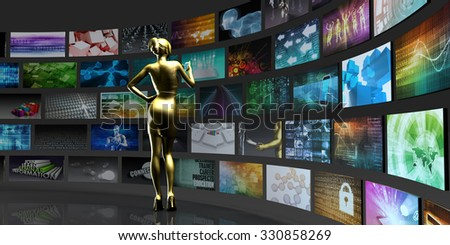Video Technology Reaching Images and Content Streaming Digital