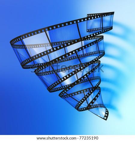 Video vortex - stock photo