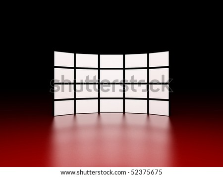 Video wall - stock photo
