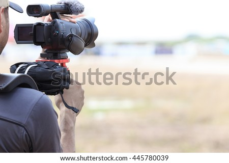 Videographer - stock photo