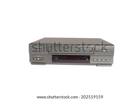 videorecorder isolated on white background - stock photo