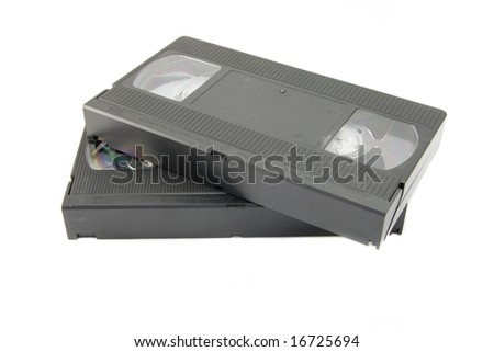 videotape isolated - stock photo