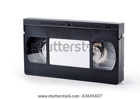 videotape on a white background - stock photo