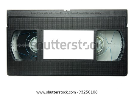 videotape on white background - stock photo
