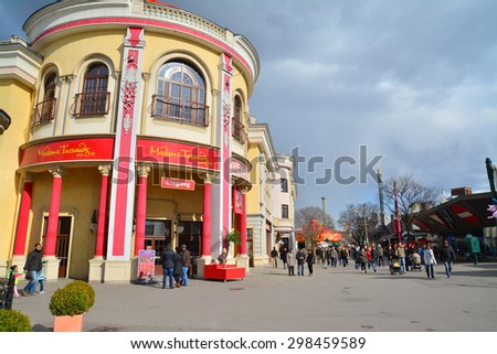 vienna, austria - April 6, 2015: The Madame Tussaud's in Prater, Vienna. Shot taken on April 6th, 2015 - stock photo