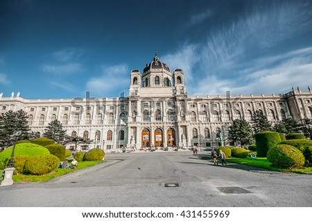 VIENNA, AUSTRIA - APRIL 21, 2016: View on Natural History Museum in Hofburg