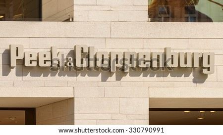 VIENNA, AUSTRIA - AUGUST 15, 2015: Founded In 1900 Peek & Cloppenburg is an international chain of retail clothing stores with headquarters in Germany.