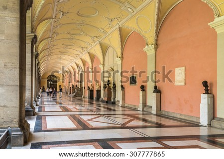 VIENNA, AUSTRIA - AUGUST 03, 2015: The University of Vienna (Universitat Wien) is a public university founded by Duke Rudolph IV in 1365 and is the oldest university in the German-speaking world.