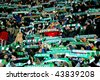 VIENNA,  AUSTRIA - DECEMBER 17 SK: Rapid plays 3:3 to Celtic Glasgow on December 17, 2009 in Vienna, Austria. Shown are fans of SK Rapid celebrating their team. - stock photo
