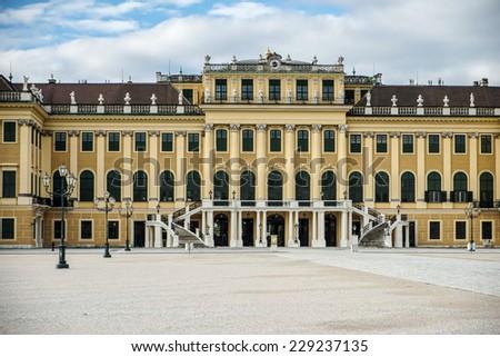 VIENNA, AUSTRIA/EUROPE - SEPTEMBER 23 : Schonbrunn Palace in Vienna Austria on September 23, 2014 - stock photo