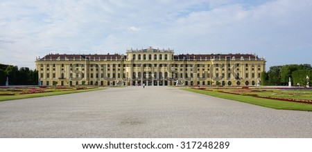 VIENNA, AUSTRIA -24 JUNE 2015- The Palace and Gardens of Schonbrunn (Schloss Schonbrunn) in Vienna, Austria, are a UNESCO World Heritage Site.