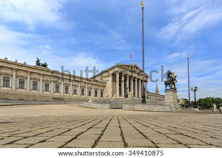 VIENNA, AUSTRIA - JUNE 27, 2015: View of to Belvedere Unteres Castle since 1712 is a masterpiece of Baroque Austrian and one of Europe's most beautiful princely residences.