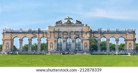 VIENNA, AUSTRIA - MAY 9, 2012. The Gloriette. The Schonbrunn Palace. - stock photo