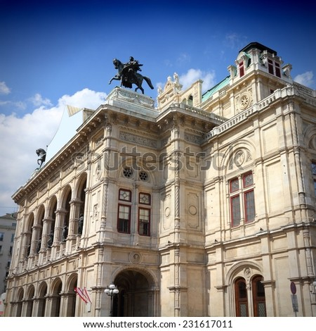 Vienna, Austria - National Opera House (Staatsoper). The Old Town is a UNESCO World Heritage Site. Square composition. - stock photo