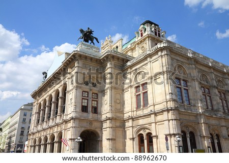 Vienna, Austria - National Opera House (Staatsoper). The Old Town is a UNESCO World Heritage Site. - stock photo
