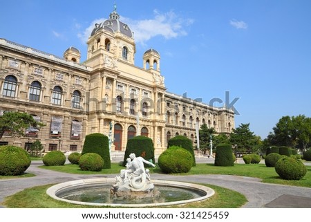 Vienna, Austria - Natural History Museum. The Old Town is a UNESCO World Heritage Site. - stock photo