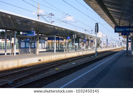Vienna/Austria - 15/03/2014: Railway station view