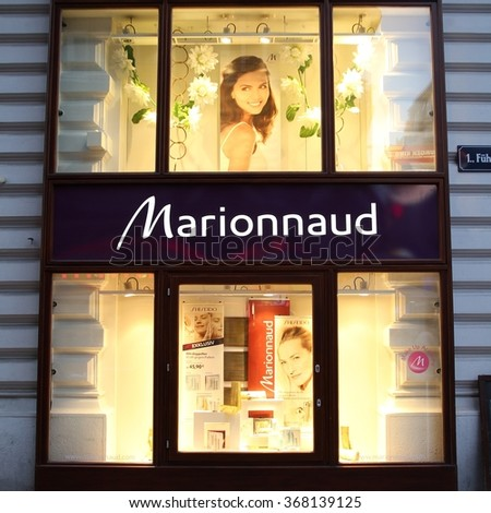 VIENNA, AUSTRIA - SEPTEMBER 4, 2011: Marionnaud perfumery in Vienna. The company founded in 1984 employs 7000 people (2009) and has 1234 branches in 13 countries.