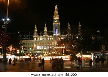 Vienna Christmas market - stock photo