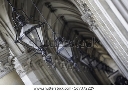 Vienna City Hall The Rathaus is a building in Vienna which serves as the seat both of the mayor and city council of the city of Vienna. - stock photo