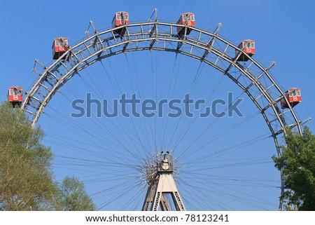 Vienna Giant Ferries Wheel (Riesenrad) in Prater, Austria - stock photo