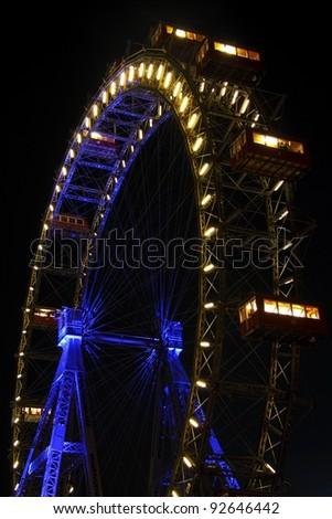 Vienna giant ferris wheel in Prater - stock photo