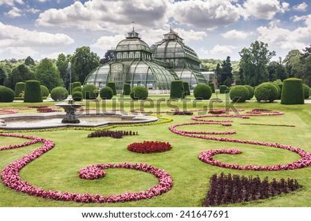 Vienna greenhouse park. - stock photo