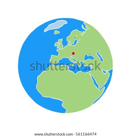 Vienna on world map white background stock illustration 561166474 vienna on a world map with a white background gumiabroncs Choice Image