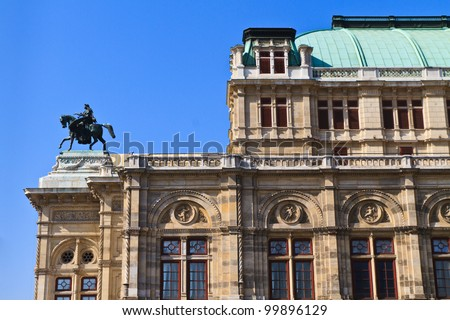 Vienna Opera House (Side View), Austria - stock photo