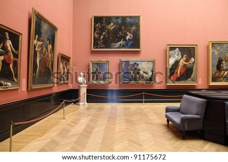 VIENNA - SEPTEMBER 8: Collections in Museum of Art History on September 8, 2011 in Vienna. With 559k visitors in 2010, the museum is among 100 most visited museums worldwide. - stock photo