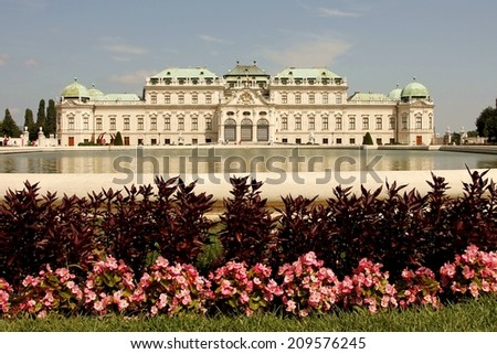 Vienna sightseeing: Belvedere Castle Palace, garden and park - stock photo