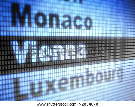 Vienna. World capitals  Full collection of icons like that is in my portfolio - stock photo