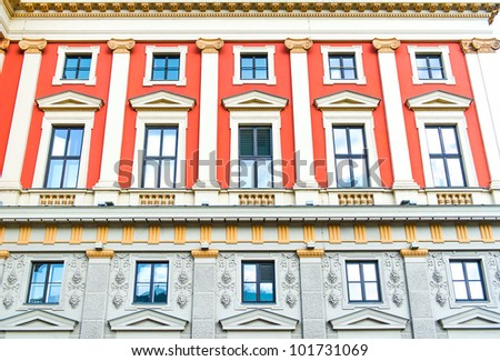 Viennese Music Association (famous Vienna concert hall) - stock photo