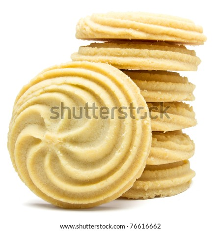 Viennese Swirl Biscuits - stock photo