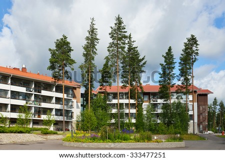 VIERUMAKI, FINLAND - JULY 18, 2015:Vierumaki is situated in central location close to Lahti, amidst ridges of Salpausselka and only an hour's drive from Helsinki region