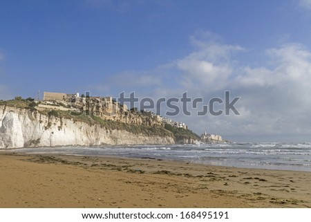 Vieste, a small town on the Italian Adriatic coast - stock photo