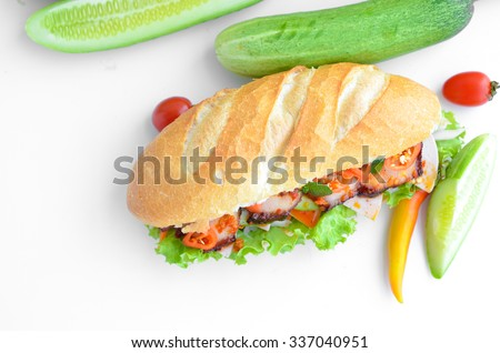 vietnam banh mi. Banh mi is kind of vietnamese sandwich, it's very famous