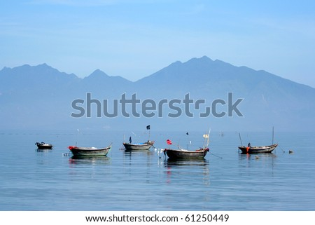 Vietnam boat, Vietnam - stock photo