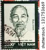 VIETNAM - CIRCA 2007: A stamp printed in Vietnam shows Ho Chi Minh, circa 2007 - stock photo