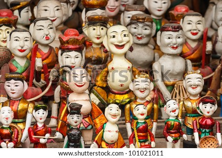 Vietnam Clay figurine - stock photo