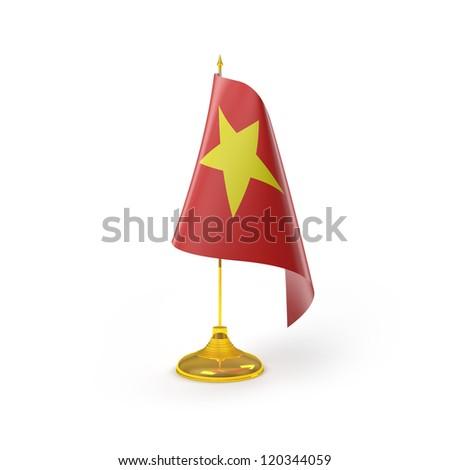 Vietnam Flag Detail Render - stock photo