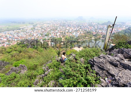 Vietnam town - stock photo