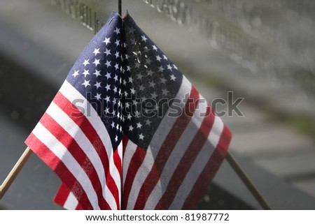 Vietnam Wall Memorial Flag in Washington, DC - stock photo