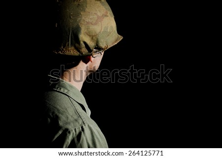 Vietnam War US GI With His Back Turned - stock photo