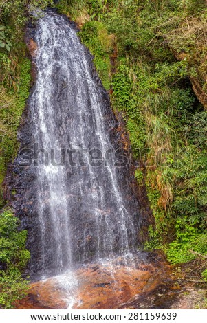 Vietnam waterfall on Fansipan mountain landscapes - stock photo