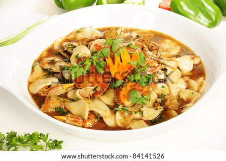 Vietnamese and Chinese food - stock photo